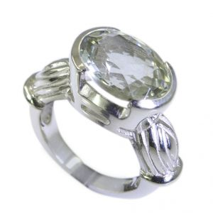 Riyo Green Amethyst Silver Jewellery Wholesalers India Sz 6 Srgam6-28005