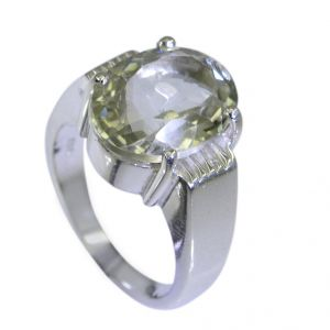 Riyo Green Amethyst Silver Jewelry Casting Regards Ring Sz 6 Srgam6-28015