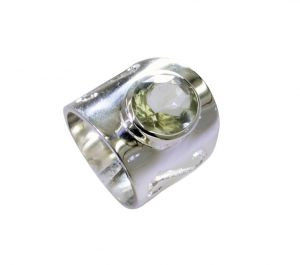 Riyo Green Amethyst Silver Jewelry Supplies Wholesale Ring Sz 6 Srgam6-28062
