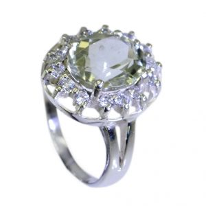 Riyo Green Amethyst Silver Jewelry Castings Beautiful Ring Sz 6.5 Srgam6.5-28016
