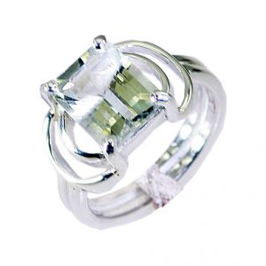 Riyo Green Amethyst Silver Jewelry Home Party Modern Ring Sz 6.5 Srgam6.5-28038