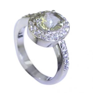 Riyo Green Amethyst Silver Jewelry Toe Ring Jewelry Sz 7 Srgam7-28029