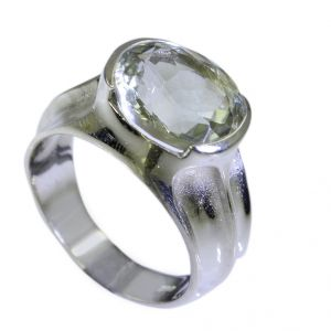Riyo Green Amethyst Silver Jewelry Findings Wholesale Gimmal Ring Sz 7 Srgam7-28032