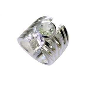 Riyo Green Amethyst Silver Jewelry Supplies Wedding Ring Sz 7 Srgam7-28061