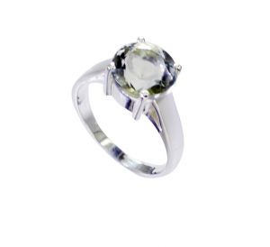 Riyo Green Amethyst Silver Jewelry Wholesale 925 Silver Ring Sz 7 Srgam7-28066