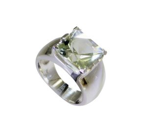 Riyo Green Amethyst Silver Jewelry Supply Promise Ring Sz 7.5 Srgam7.5-28063