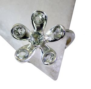 Riyo Green Amethyst Silver Jewelry Parties Guard Ring Sz 8 Srgam8-28051