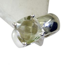 Riyo Green Amethyst Silver Jewelry Shop Beautiful Ring Sz 8 Srgam8-28055