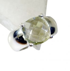 Riyo Green Amethyst Silver Jewelry Shops Signet Ring Jewelry Sz 8 Srgam8-28056