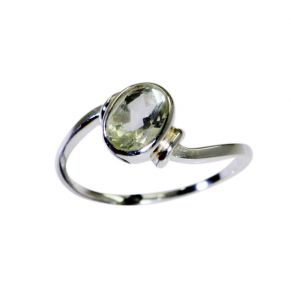 Riyo A Green Amethyst 925 Solid Sterling Silver Rough Cut Ring Srgam80-28090