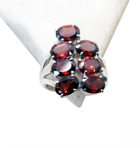 Riyo Garnet Best Silver Jewelry Engagement Ring Sz 6 Srgar6-26116
