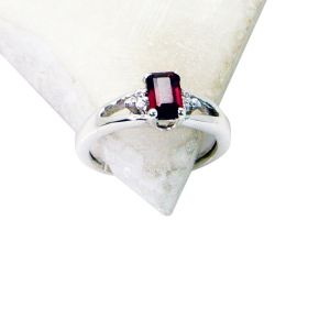 Riyo Garnet Brushed Silver Jewelry Regards Ring Jewelry Sz 6 Srgar6-26123