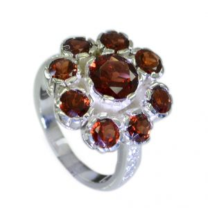 Riyo Garnet Stylish Silver Jewellery Silver Ring Settings Without Stones Sz 6.5 Srgar6.5-26043