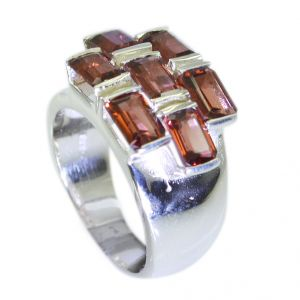 Riyo Garnet Twisted Silver Jewelry Silver Stacking Ring Sz 6.5 Srgar6.5-26049