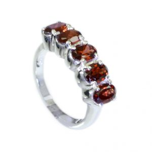 Riyo Garnet Unique Handmade Jewelry Silver Thumb Ring Sz 6.5 Srgar6.5-26051