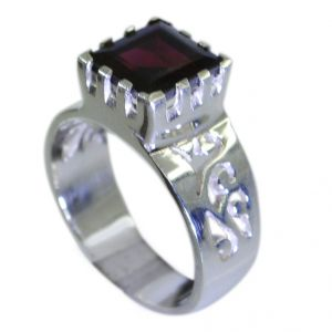 Riyo Garnet Unusual Silver Jewellery Silver Wave Ring Sz 7 Srgar7-26054
