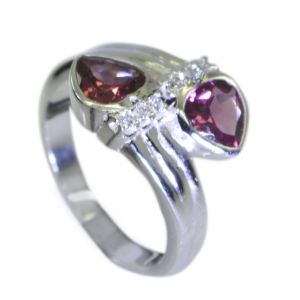 Riyo Garnet Unusual Silver Jewelry Silver Wrap Ring Sz 7 Srgar7-26055