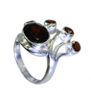 Riyo Garnet Wholesale Gemstone Wholesale Silver Ring Sz 7 Srgar7-26064