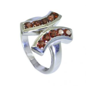 Riyo Garnet Wholesale Jewelry Silver 925 Wide Silver Ring Sz 7 Srgar7-26066