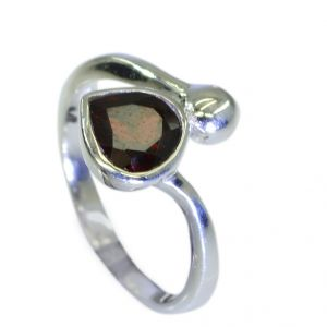 Riyo Garnet Wholesale Silver Gemstone Claddagh Ring Jewellery Sz 7 Srgar7-26069