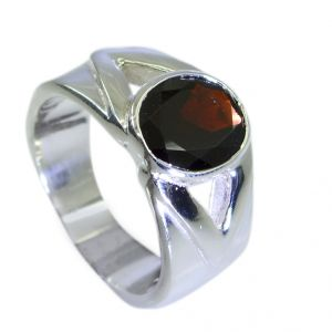 Riyo Garnet Wholesale Silver Jewellery Class Ring Jewelry Sz 7 Srgar7-26070