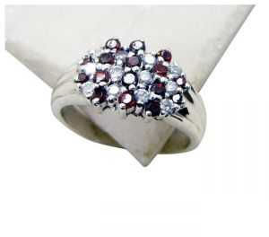 Riyo Garnet Contemporary Designer Purity Ring Jewelry Sz 7 Srgar7-26148