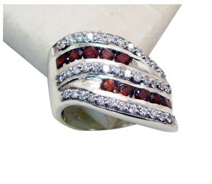 Riyo Garnet Contemporary Ring Sz 7 Srgar7-26152