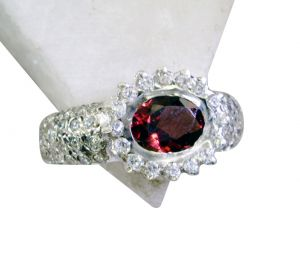 Riyo Garnet Cz Silver Jewelry Antique Silver Ring Sz 7 Srgar7-26159