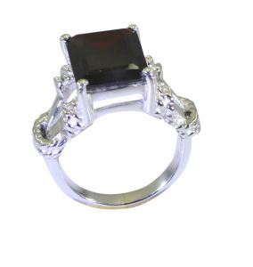 Riyo Red Garnet 925 Solid Sterling Silver Shimmering Ring Srgar70-26254