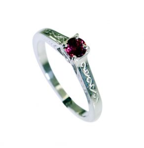 Riyo Red Garnet 925 Solid Sterling Silver Slip On Ring Srgar70-26268