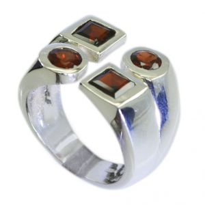 Riyo Garnet Sterling Silver Sovereign Ring Jewellery Sz 7.5 Srgar7.5-26087