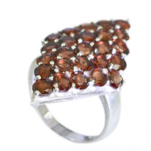 Riyo Garnet 0.925 Solid Sterling Silver Sports Ring Jewelry Sz 7.5 Srgar7.5-26088