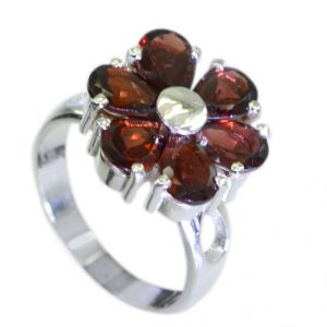 Riyo Garnet 925 Solid Sterling Silver Eternity Ring Jewellery Sz 7.5 Srgar7.5-26090