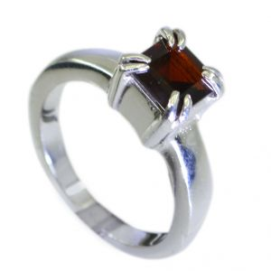 Riyo Garnet 925 Silver Jewellery Cocktail Ring Jewelry Sz 7.5 Srgar7.5-26096