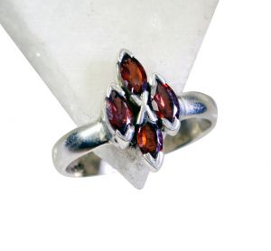 Riyo Garnet Silver Jewelry Sets Cocktail Ring Sz 7.5 Srgar7.5-26139