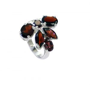 Riyo Garnet Indian Jewelry Silver Silver Twist Ring Sz 7.5 Srgar7.5-26224