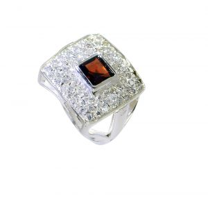 Riyo Garnet Ladies Silver Jewellery Fashion Ring Sz 7.5 Srgar7.5-26239