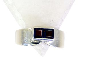 Riyo Garnet Engraved Silver Design Your Own Silver Ring Sz 8.5 Srgar8.5-26170