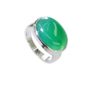 Riyo Green Onyx Old Silver Jewelry Finger Armor Ring Sz 7 Srgon7-30003
