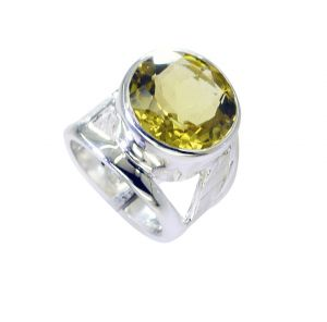 Riyo Lemon Quartz Silver Direct Jewellery Eternity Ring Sz 6 Srlqu6-46017
