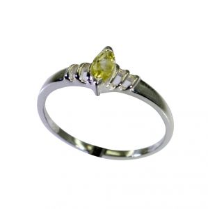Riyo Lemon Quartz Silver Cz Jewellery Purity Ring Jewelry Sz 7 Srlqu7-46020