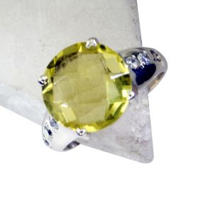 Riyo Lemon Quartz Contemporary Wedding Ring Jewelry Sz 7.5 Srlqu7.5-46005