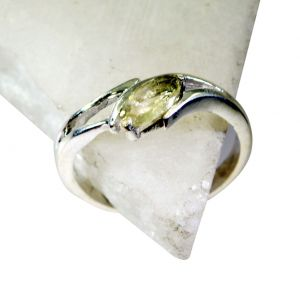 Riyo Lemon Quartz Silver Costume Jewelry Promise Ring Sz 8 Srlqu8-46007