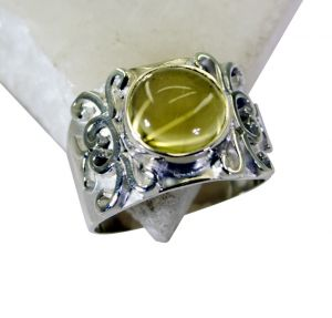 Riyo Lemon Quartz Silver Craft Jewellery Purity Ring Jewelry Sz 8 Srlqu8-46008