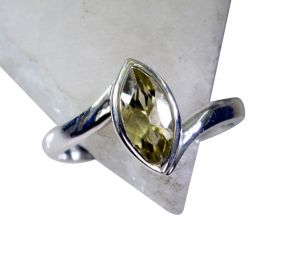 Riyo Lemon Quartz Silver Cz Jewelry Mori Ring Sz 8 Srlqu8-46012