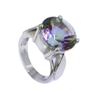 Riyo Mystic Quartz Silver Forest Jewelry Wholesale Chunky Silver Ring Sz 6.5 Srmqu6.5-54007