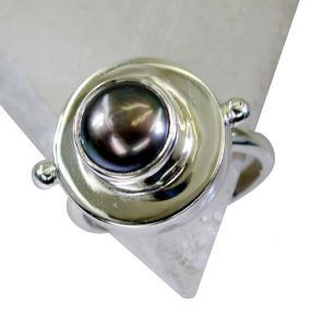 Riyo Pearl Silver Jewellery Stores Silver Sister Ring Sz 8 Srpea8-56009