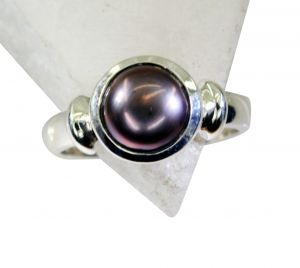 Riyo Pearl Silver Jewellery Supplies Silver Stacking Ring Sz 8 Srpea8-56012