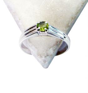 Riyo Peridot Silver Jewelry Findings Friendship Ring Sz 7 Srper7-58028