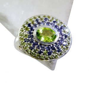 Riyo Peridot Silver Jewelry Home Parties Sports Ring Sz 7 Srper7-58034